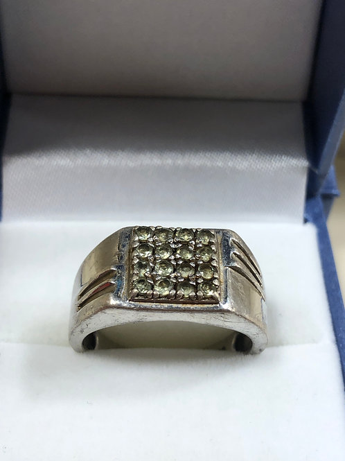 Sterling Silver Man Ring , Size 11