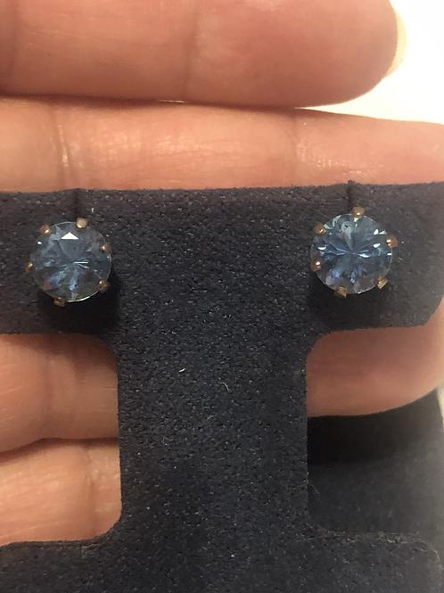 Sterling .925 Gemstone Stud Earrings