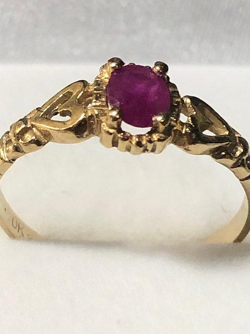10K Gold Sapphire Ring
