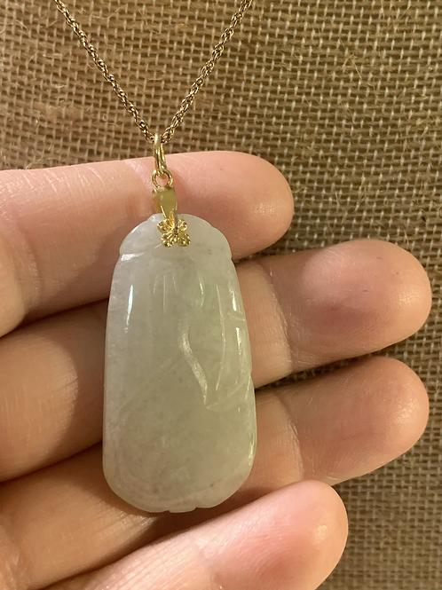 12K GF Jade Necklace