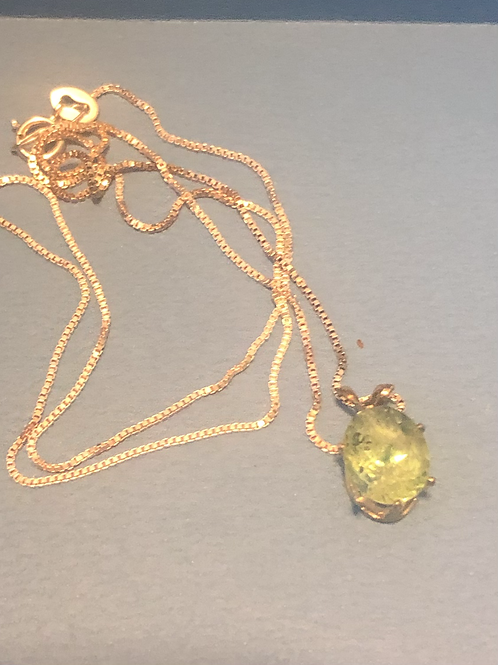 Sterling Chain Gemstone Necklace
