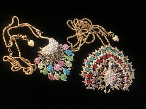 TWO BETSEY JOHNSON NECKLACES