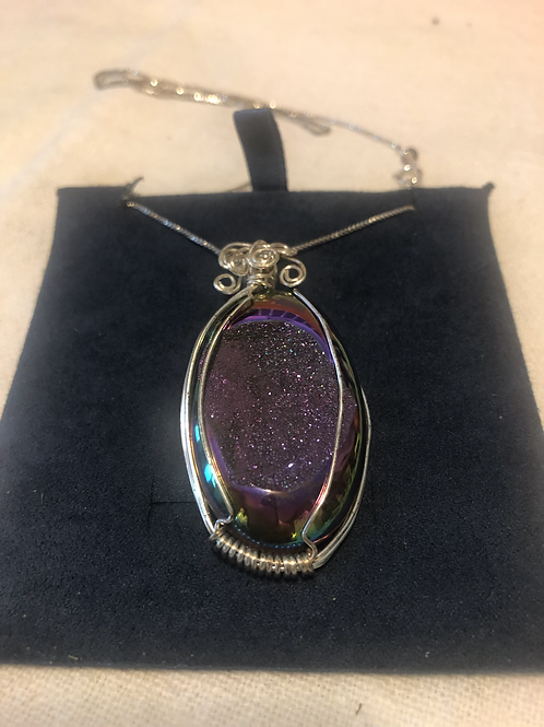 Beautiful Sterling Gemstone Necklace
