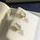 Thumbnail: Beautiful 14K Gold Aqua Marine Stud Earrings