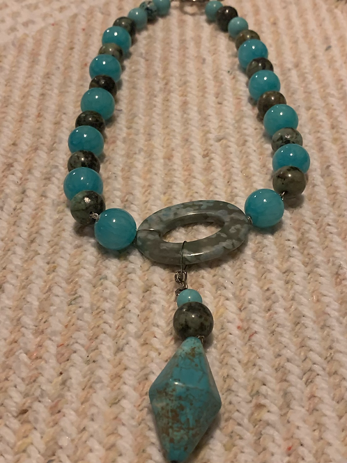 """Turquoise 18"""" Necklace"""