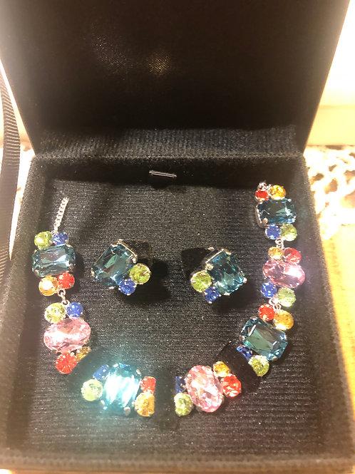 Multi Colored Necklace Set
