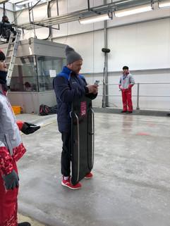 Heath with sled