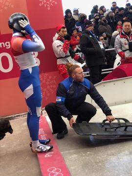 AJ Olympic start line
