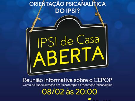 Ipsi de Casa Aberta | Reunião informativa sobre o CEPOP