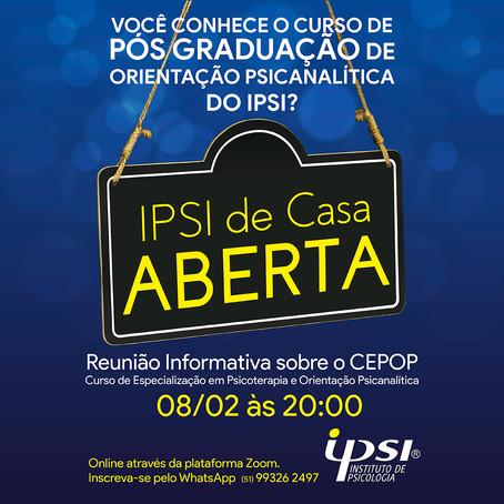 Ipsi de Casa Aberta   Reunião informativa sobre o CEPOP