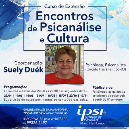 Curso de Extensão   Encontros de Psicanálise e Cultura