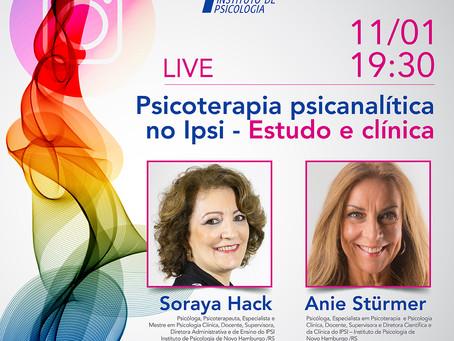 Live | Psicoterapia Psicanalítica no Ipsi - Estudo e Clínica