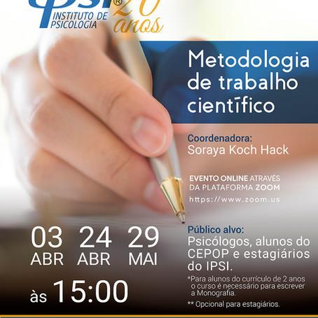 Curso de Extensão   Metodologia do Trabalho Científico