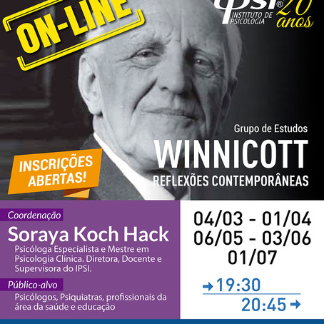 Grupo de Estudos   Winnicott - Reflexões Contemporâneas