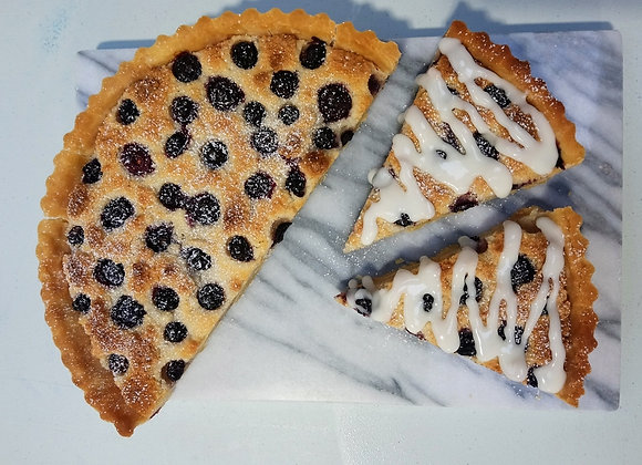 Whole Autumn Spiced Blueberry Frangipane Tart
