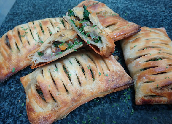 Hazelnut, Mushroom & Spinach Lattices