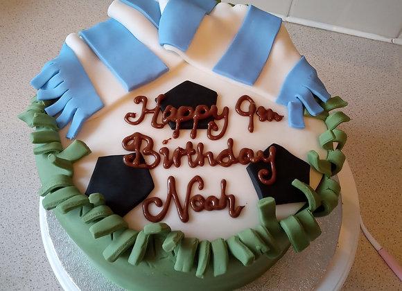 "7"" Chocolate Football Cake"