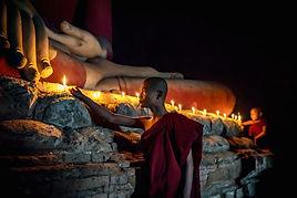 Candele di illuminazione del Monaco budd