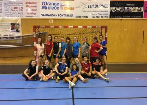 Entrainement commun des séniors féminines et U18