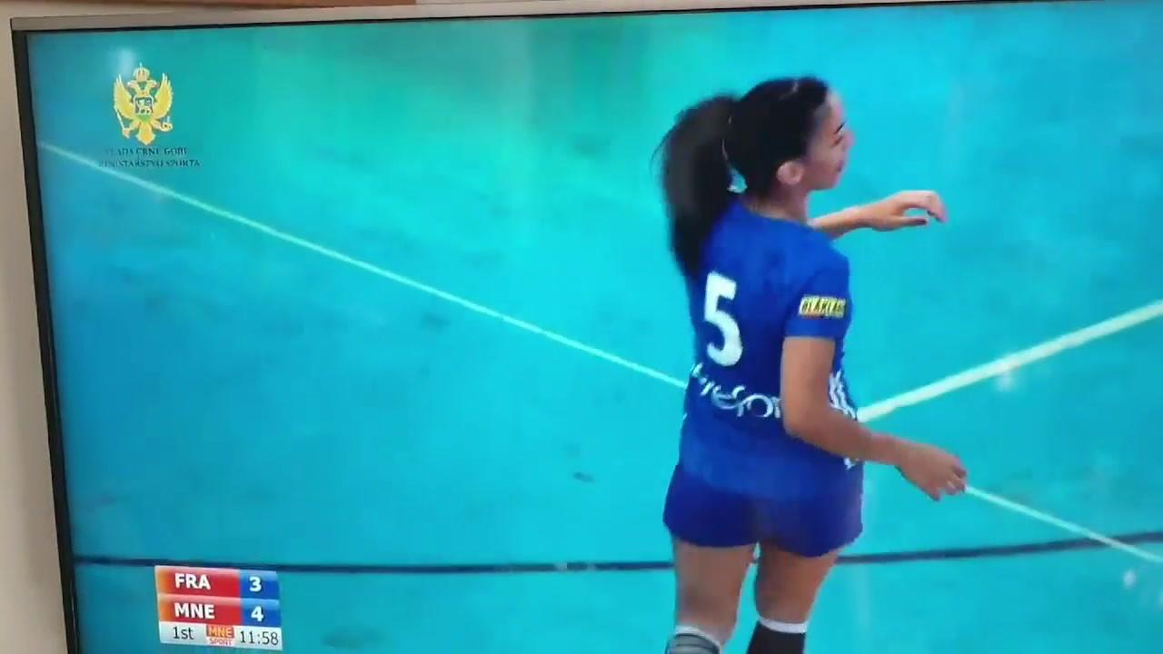 But d'Ines lors de la finale France-Montenegro