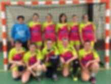 équipe sénior féminine vercel handball plateau 2016 2017