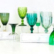 Mismatched Green Goblets
