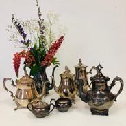 Distressed Silver Tea Pots