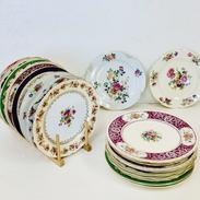 Mismatched Vintage China Dinner Plates