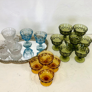 Vintage Pressed Glass Dessert Cups