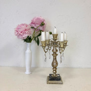 Gold and Crystal Table Candelabra