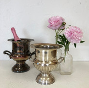 Distressed Champagne Buckets