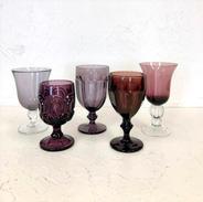 Mismatched Purple Goblets