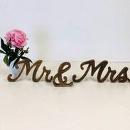 Mr. & Mrs. Wood Sign