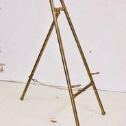 Vintage Brass Tabletop Easel