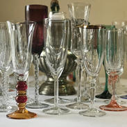 Mismatched Champagne Flutes