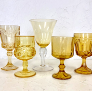 Mismatched Yellow Goblets