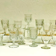 Mismatched Clear Goblets