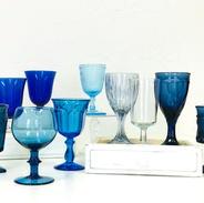 Mismatched Blue Goblets