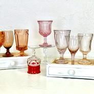 Mismatched Pink Goblets