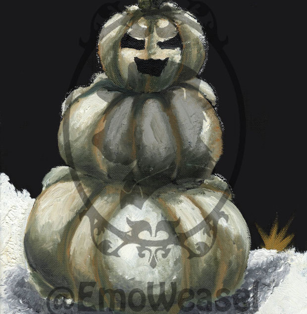 pumpkin snow man