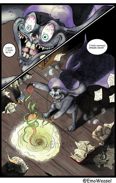 Wizaed bunny comic page