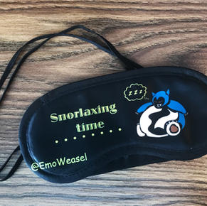 Snorlaxing time sleep mask