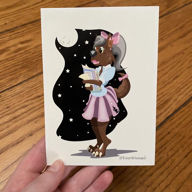 1950's werewolf post card