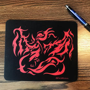 fire burd mouse pad