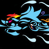 tribal rainbow dash