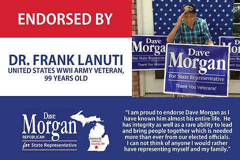 Dave Morgan for state rep endorsement 1.