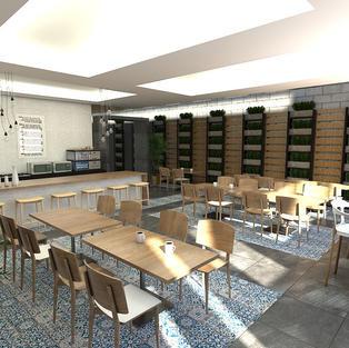 Planos diseño interior cafetería