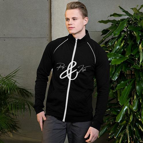 Pep & Kish Logo Piped Fleece Jacket