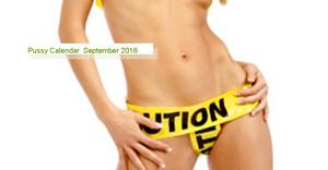 Pussy Calendar September 2016