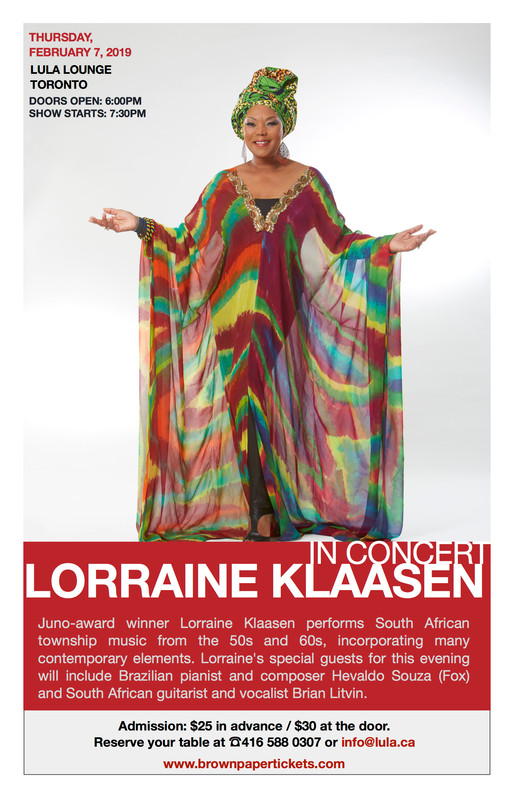 LORRAINE KLAASEN at THE LULU Lounge